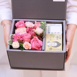 러블리 핑크꽃박스M